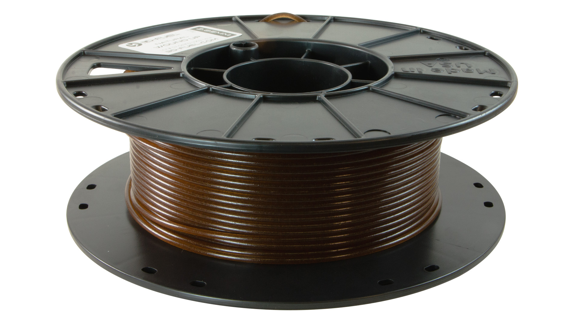3D-Fuel 2.85mm Wound Up Coffee Filament spool horizontal