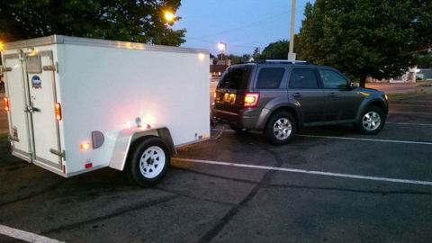 trailer and SUV ready to go