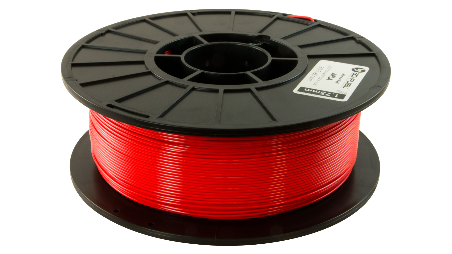 3D-Fuel 1.75mm Nitrous Red APLA spool horizontal