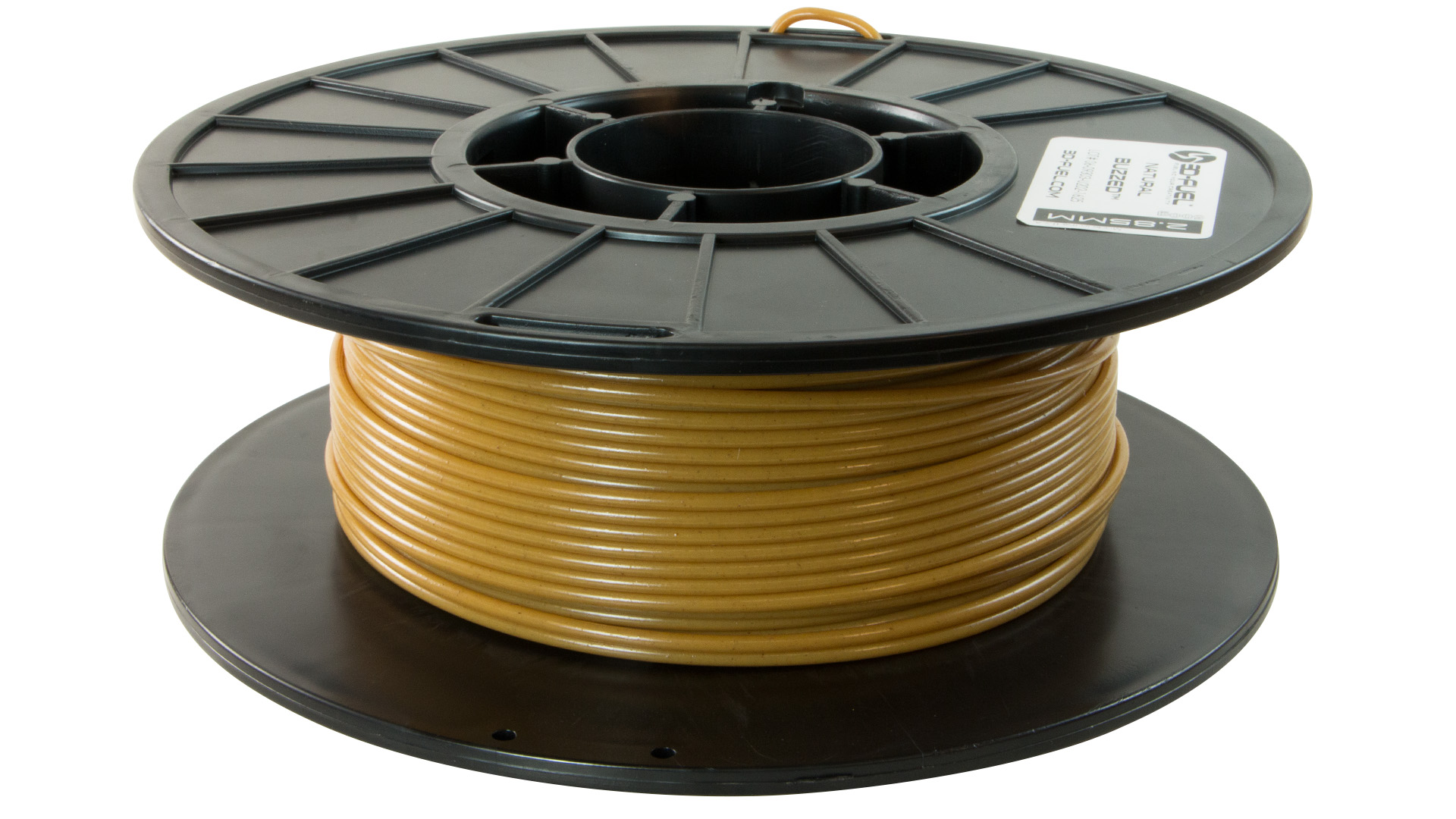 3D-Fuel 2.85mm Buzzed Beer Filament spool horizontal
